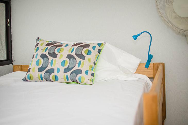 cama del hostal