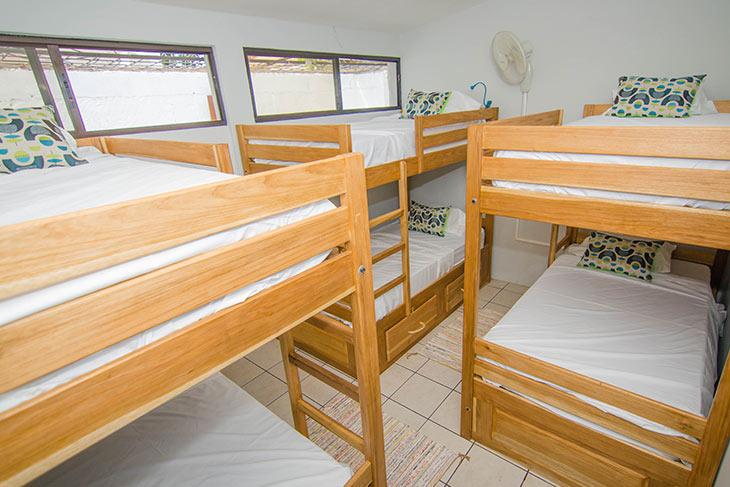 habitación compartida del hostal